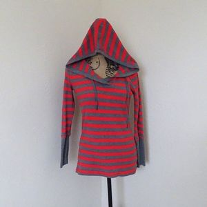 Calvin Klein Performance Red and Gray Hoodie